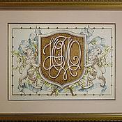 Картины и панно ручной работы. Ярмарка Мастеров - ручная работа Большие гербы с львами. Handmade.