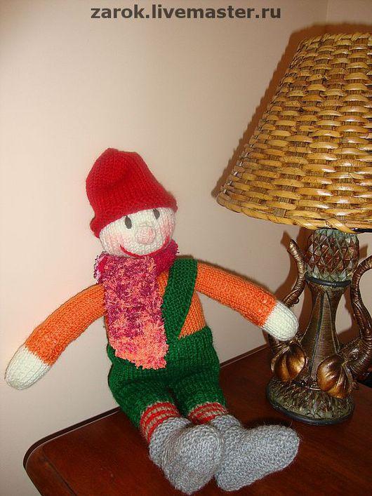 """Человечки ручной работы. Ярмарка Мастеров - ручная работа. Купить Кукла Тим (""""Веселый народец""""). Handmade. Интерьерная кукла, пряжа"""