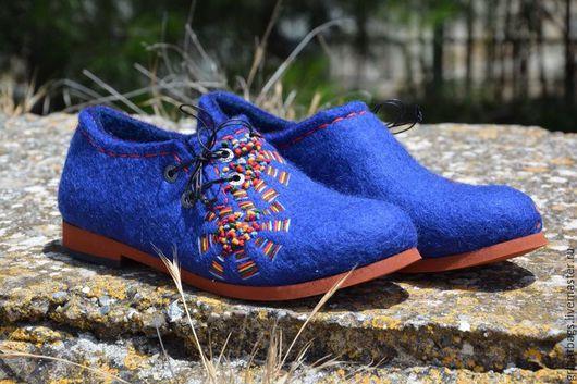 """Обувь ручной работы. Ярмарка Мастеров - ручная работа. Купить Туфли """"Радуга"""". Handmade. Туфли женские, осенний, подошва"""