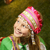 Русский стиль handmade. Livemaster - original item Russian traditional kokoshnik Ladushka, Headdress for folk costume. Handmade.