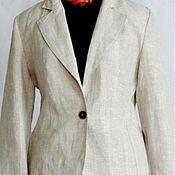 Одежда ручной работы. Ярмарка Мастеров - ручная работа Льняной женский пиджак, жакет.. Handmade.