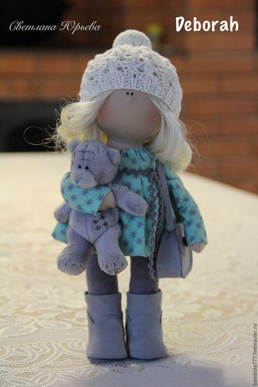 Коллекционные куклы ручной работы. Ярмарка Мастеров - ручная работа. Купить Кукла интерьерная текстильная 26 см. Handmade. Серый