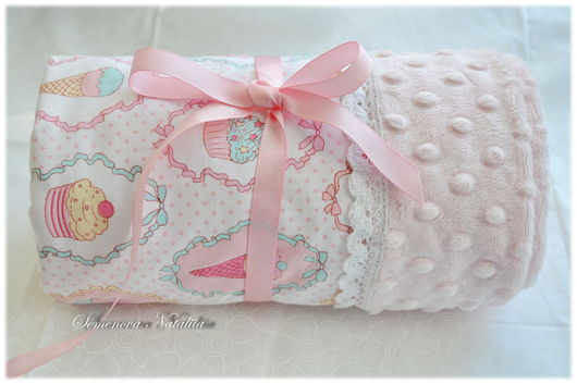 Пледы и одеяла ручной работы. Ярмарка Мастеров - ручная работа. Купить Плед  Мороженки, для новорожденных, одеяло для новорожденных. Handmade. одеялко
