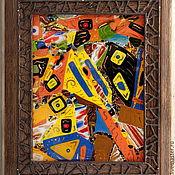 """Картины и панно ручной работы. Ярмарка Мастеров - ручная работа Панно """" Абстрактности """". Handmade."""
