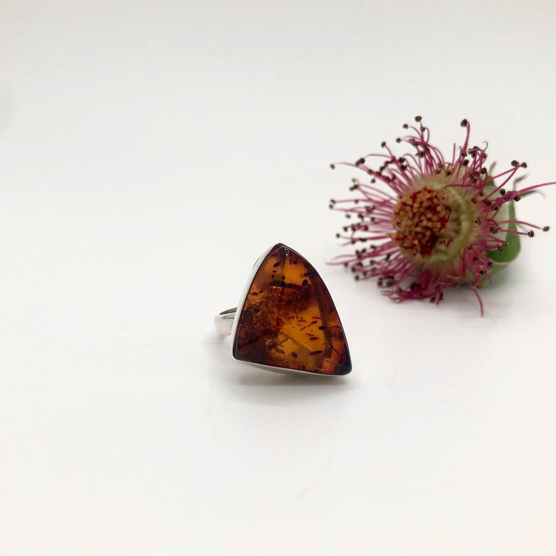 Кольцо с янтарем, Кольца, Феодосия,  Фото №1
