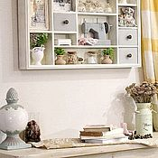 Для дома и интерьера handmade. Livemaster - original item Shelves: decorative shelf with drawers in the style of Provence Clothier. Handmade.