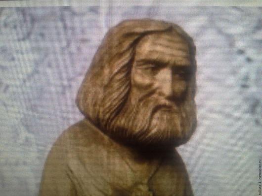 Easter Gifts handmade. Livemaster - handmade. Buy St. Seraphim of Sarov.Wood carving, miniature, russian saints