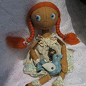 Куклы и игрушки ручной работы. Ярмарка Мастеров - ручная работа Кукла тонированная тыквоголовая Рыжуля. Handmade.