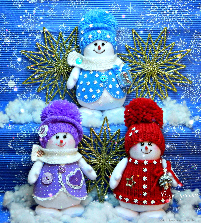 Снеговички. новогодний сувенир, Снеговики, Москва,  Фото №1