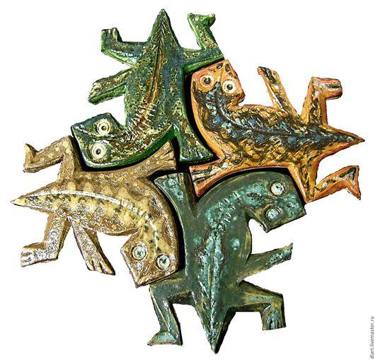 Декор поверхностей ручной работы. Ярмарка Мастеров - ручная работа. Купить декоративная плитка. Handmade. Комбинированный, символ, декор для интерьера