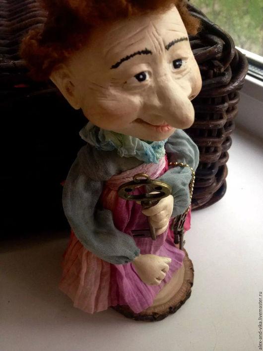 Коллекционные куклы ручной работы. Ярмарка Мастеров - ручная работа. Купить Ключница. Handmade. Комбинированный, сказочный персонаж, наполнитель