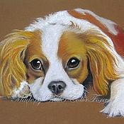 Картины и панно ручной работы. Ярмарка Мастеров - ручная работа Портрет собаки Кавалер Кинг Чарльз спаниель. Handmade.