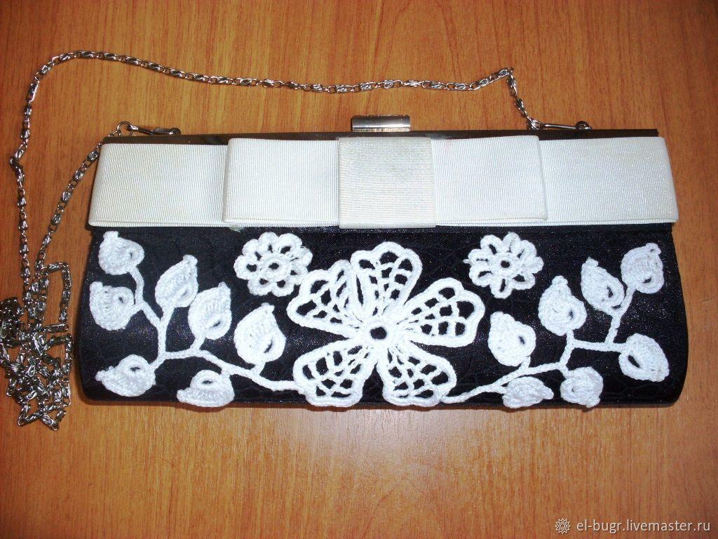 Театральный  клатч крючком,  элегантная сумочка для вечеринок, Клатчи, Челябинск,  Фото №1