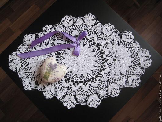 Текстиль, ковры ручной работы. Ярмарка Мастеров - ручная работа. Купить Салфетка № 123. Handmade. Белый, Вязание крючком