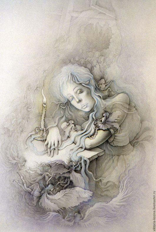 Зима... Наступают дни полные волшебства и ожидания чуда. Маленькая девочка засыпает,  а в открывшуюся форточку залетают снежные ангелы, чтобы вплести в чудесные косы ребёнка добрые зимние сны...