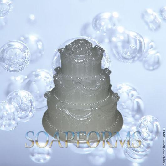Силиконовая форма для мыла `Тортик` 3D