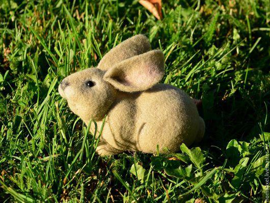 Игрушки животные, ручной работы. Ярмарка Мастеров - ручная работа. Купить Игрушка Кролик. Handmade. Бежевый, заяц, игрушка заяц