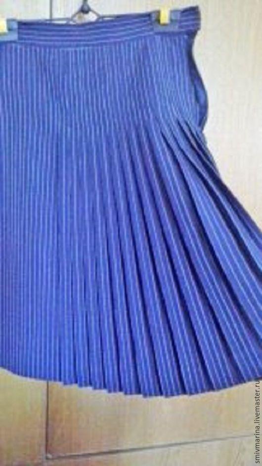 Для подростков, ручной работы. Ярмарка Мастеров - ручная работа. Купить юбка Веселые полосочки. Handmade. Синий, школьница