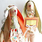 """Куклы и игрушки ручной работы. Ярмарка Мастеров - ручная работа Зайцы в стиле Тильда """"Женаты!"""". Handmade."""