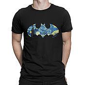 """Одежда handmade. Livemaster - original item Футболка хлопковая """"Бэтмен - Звездная Ночь"""". Handmade."""