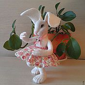 Куклы и игрушки ручной работы. Ярмарка Мастеров - ручная работа крольчиха Кокетка. Handmade.