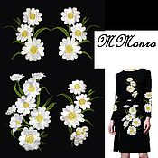 Материалы для творчества handmade. Livemaster - original item dg set thermoapplication, embroidery, daisies. Handmade.