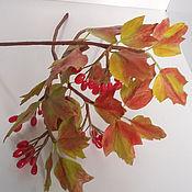 Цветы и флористика ручной работы. Ярмарка Мастеров - ручная работа Калина красная. Handmade.