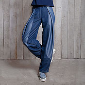 Одежда ручной работы. Ярмарка Мастеров - ручная работа Брюки женские летние легкие джинсовые. Handmade.