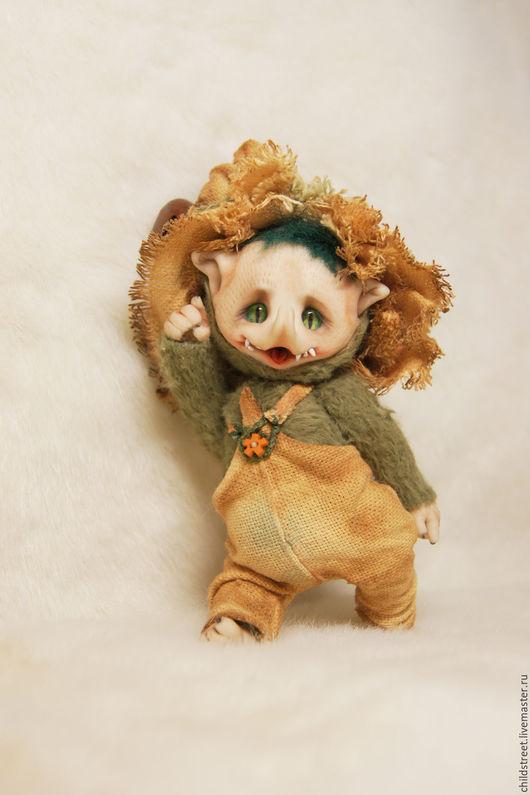 Мишки Тедди ручной работы. Ярмарка Мастеров - ручная работа. Купить Эльф упавших листьев. Handmade. Зеленый, сказочные существа