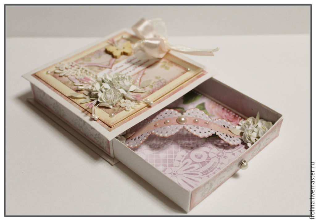 Открытка коробочка для денег