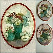 Картины и панно handmade. Livemaster - original item Paintings, murals decoupage. Handmade.