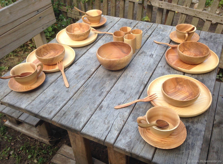 Деревянная посуда на каждый день, Тарелки, Калининград,  Фото №1
