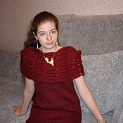 """Одежда ручной работы. Ярмарка Мастеров - ручная работа Платье """"Божоле"""". Handmade."""
