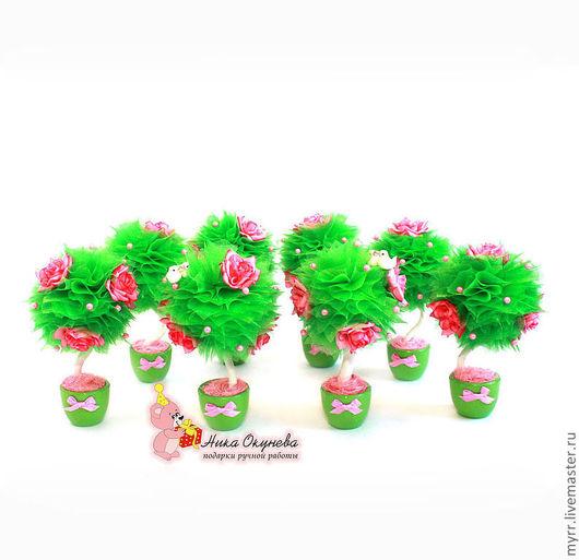 Топиарии ручной работы. Ярмарка Мастеров - ручная работа. Купить Маленькие Деревья счастья Топиарии. Дерево топиарий. Handmade. Дерево