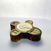 Украшения handmade. Livemaster - original item Amber tusk cross R-446. Handmade.