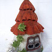 Для дома и интерьера ручной работы. Ярмарка Мастеров - ручная работа Интерьерный домик-грелка для чайника Домик садового гнома. Handmade.