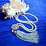 Украшения handmade. Livemaster - original item Aquamarines. Sotuar SEA WALK Natural stones Copyright necklace. Handmade.