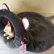 Зоотовары handmade. Livemaster - original item Bed-sleeping bag for cats