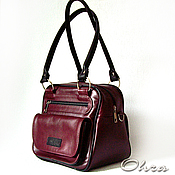 Сумки и аксессуары handmade. Livemaster - original item Bag Sevilla Burgundy leather. Handmade.
