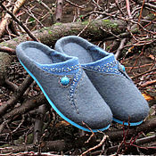 Обувь ручной работы handmade. Livemaster - original item Slippers: Felted women`s Slippers Ava.. Handmade.