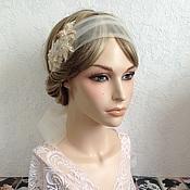Свадебный салон ручной работы. Ярмарка Мастеров - ручная работа Свадебное украшение с вышивкой. Handmade.