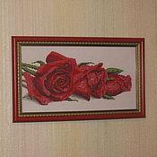 """Подарки к праздникам ручной работы. Ярмарка Мастеров - ручная работа картина"""" Розы в росе"""". Handmade."""
