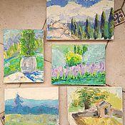 Картины и панно ручной работы. Ярмарка Мастеров - ручная работа Тоскана, майские этюды. Handmade.