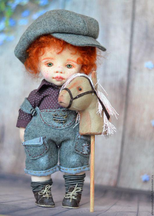 Коллекционные куклы ручной работы. Ярмарка Мастеров - ручная работа. Купить Антошка. Handmade. Рыжий, коллекционная кукла, трикотаж