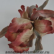 Цветы и флористика ручной работы. Ярмарка Мастеров - ручная работа Ирис из шелка. Handmade.