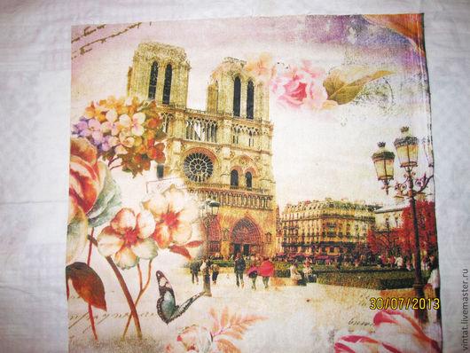 """Шитье ручной работы. Ярмарка Мастеров - ручная работа. Купить Ткань для декора """"Париж"""" 1. Handmade. Декор для интерьера, бязь"""