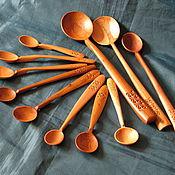 Посуда ручной работы. Ярмарка Мастеров - ручная работа ложка для взрослых и ложечка для малышей. Handmade.