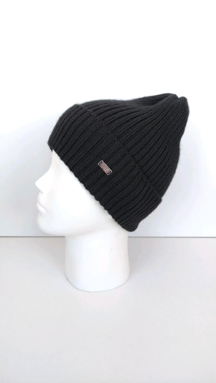 Классическая вязаная мужская шапка. 100% шерсть, Шапки, Тула,  Фото №1