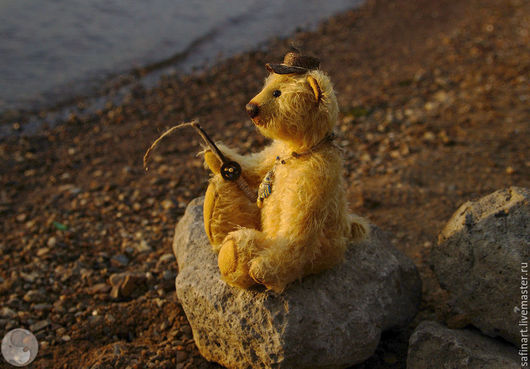 """Мишки Тедди ручной работы. Ярмарка Мастеров - ручная работа. Купить Мишка """"Рыболов"""". Handmade. Мишка тедди, мишка 27см"""