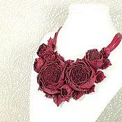 Украшения handmade. Livemaster - original item Necklace leather Pomegranate Dance of Roses, leather handmade jewelry. Handmade.